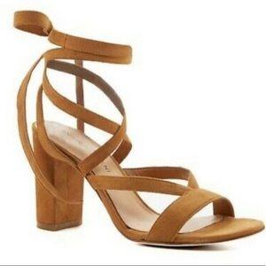 Antonio Melani Suede High Heel Gladiator Sandals
